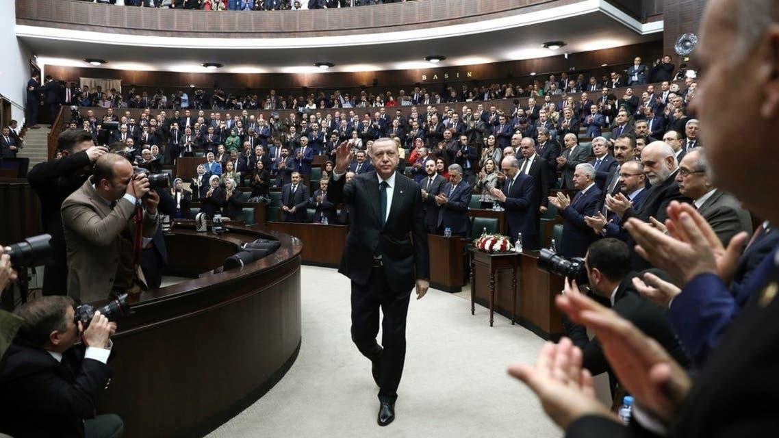 اردوغان في البرلمان