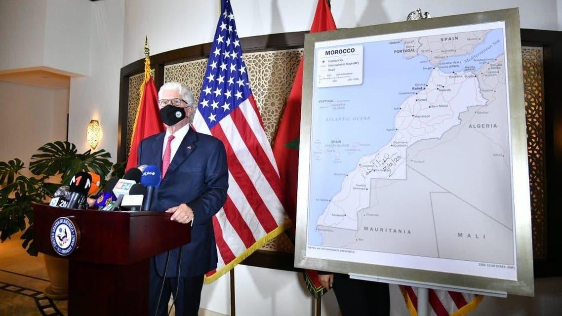 سفير أميركا: واشنطن تعتمد خريطة المغرب تضم الصحراء