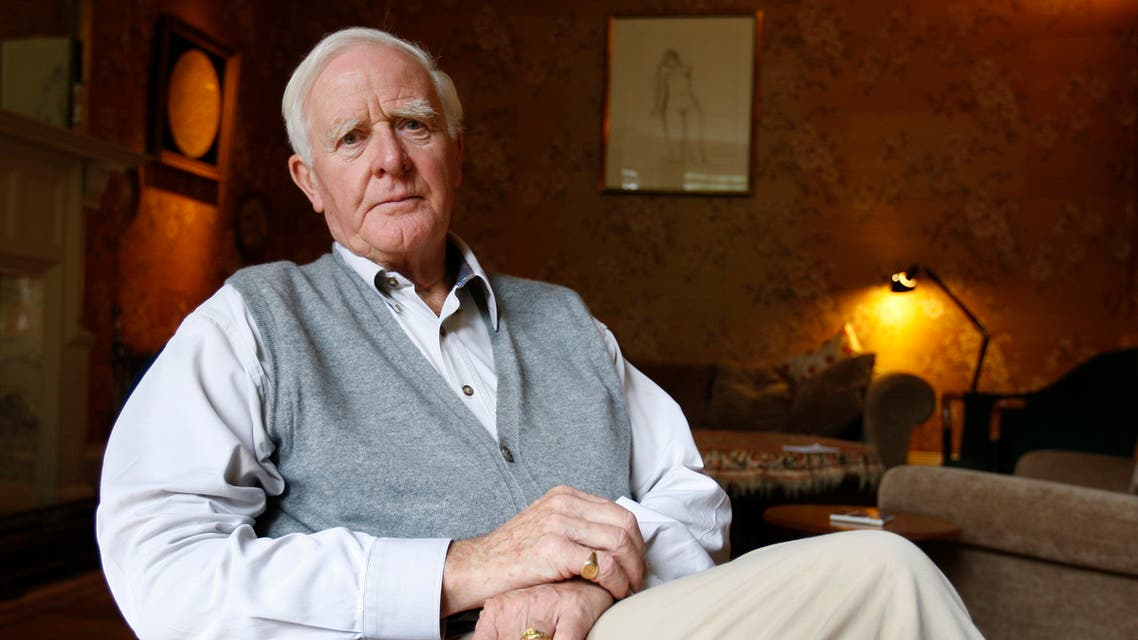 Author John Le Carre, real name David Cornwell, is seen, at his home in London, Thursday, Aug. 28, 2008. (AP)