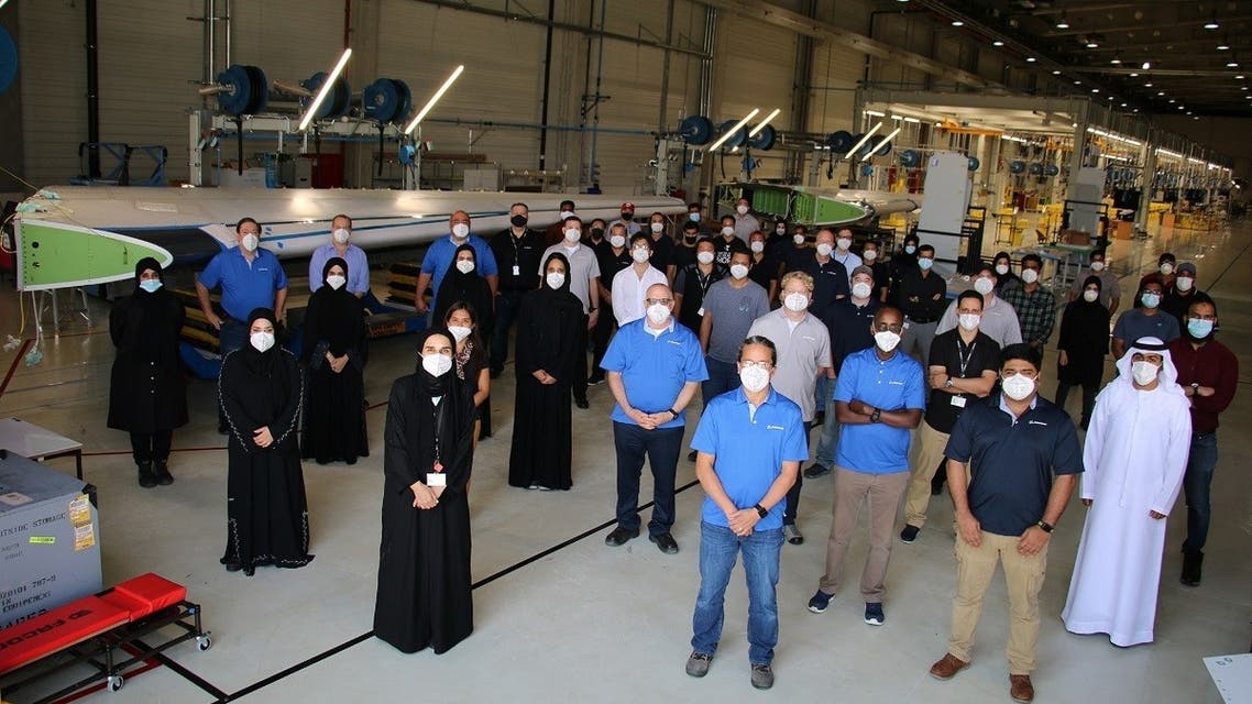Al Ain-based Strata Manufacturing elivered its first Boeing 787 Dreamliner vertical fin shipset to Boeing during an official ceremony. (Supplied)