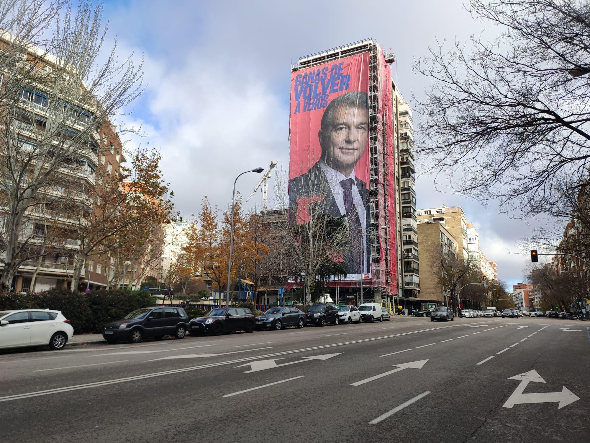 صورة لابورتا الانتخابية في مدريد