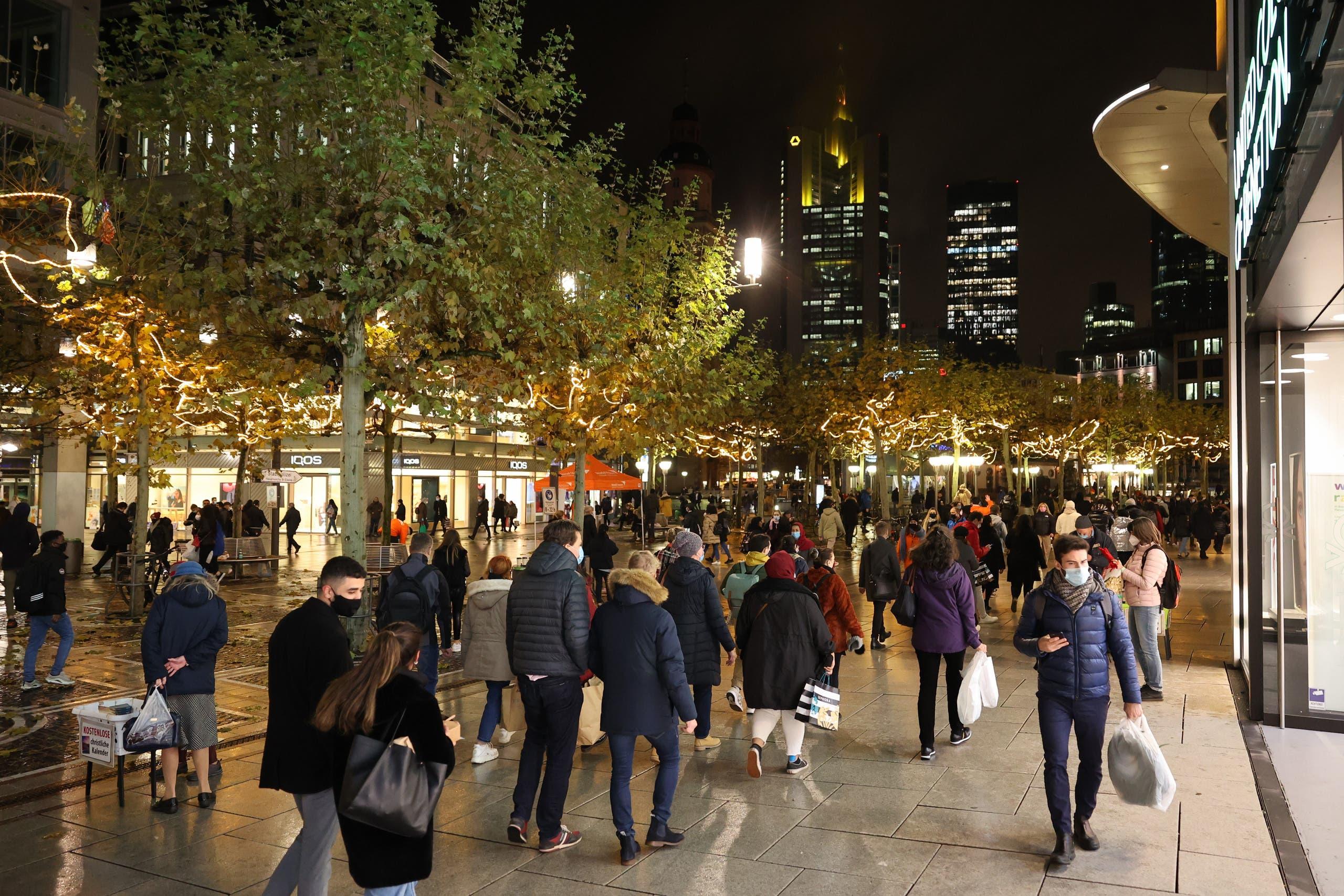من وسط مدينة فرانكفورت يوم 15 ديسمبر