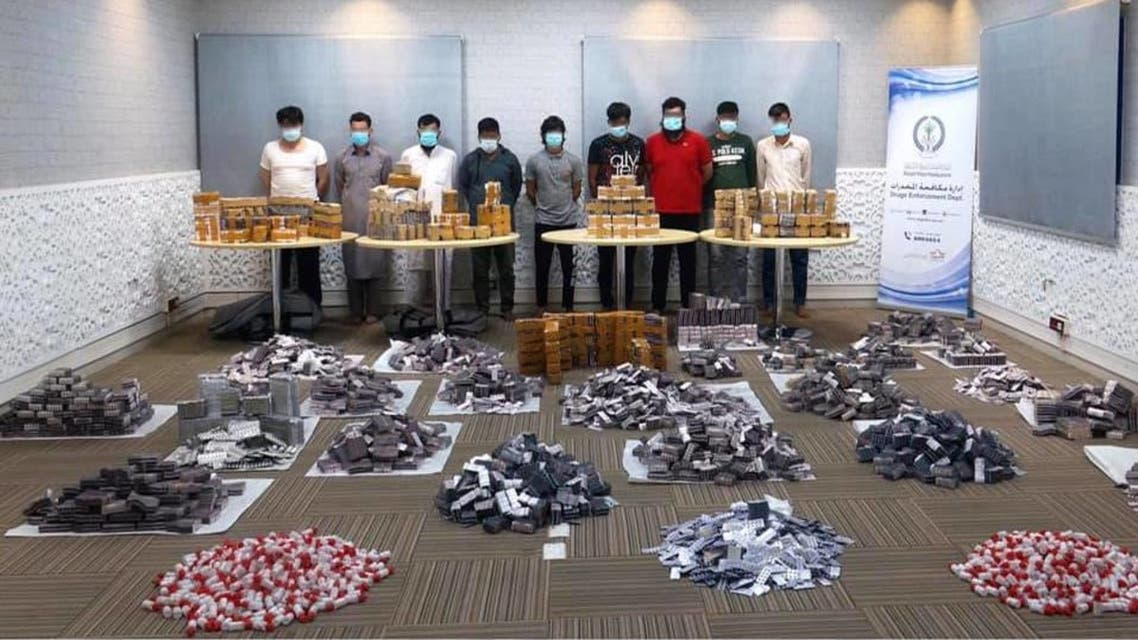 Sharjah Police arrested nine men who confessed to planning to sell $4mln worth of narcotic drugs. (Sharjah Police)