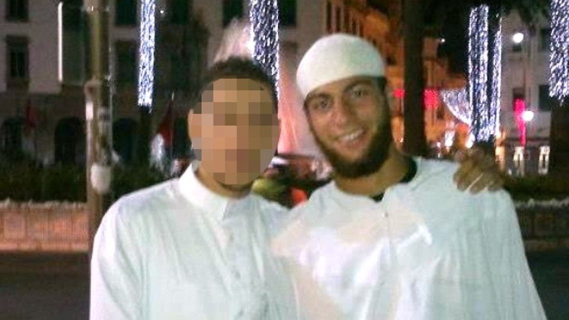 An undated photo released by a social network shows Ayoub El-Khazzani (R). (File photo: AFP)