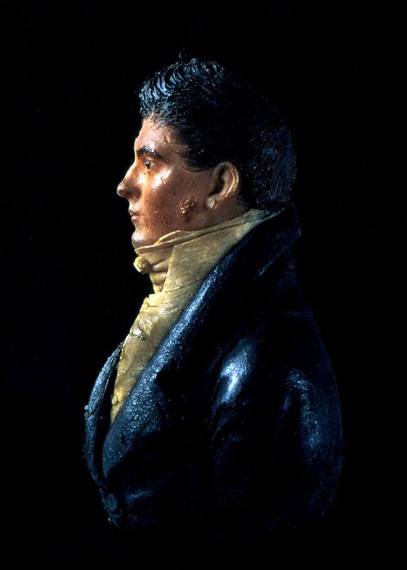 تمثال من الشمع يجسد المهندس جيمس هوبان
