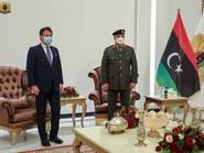 حفتر يبحث مستجدات الحوار السياسي الليبي مع كونتي