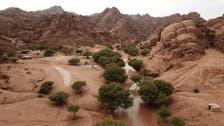 هضبة وسط السعودية تتميز بلونها الأحمر وجمال طبيعتها