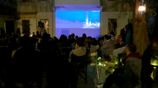 Open-air cinema fundraiser event takes place inside damaged Beirut house