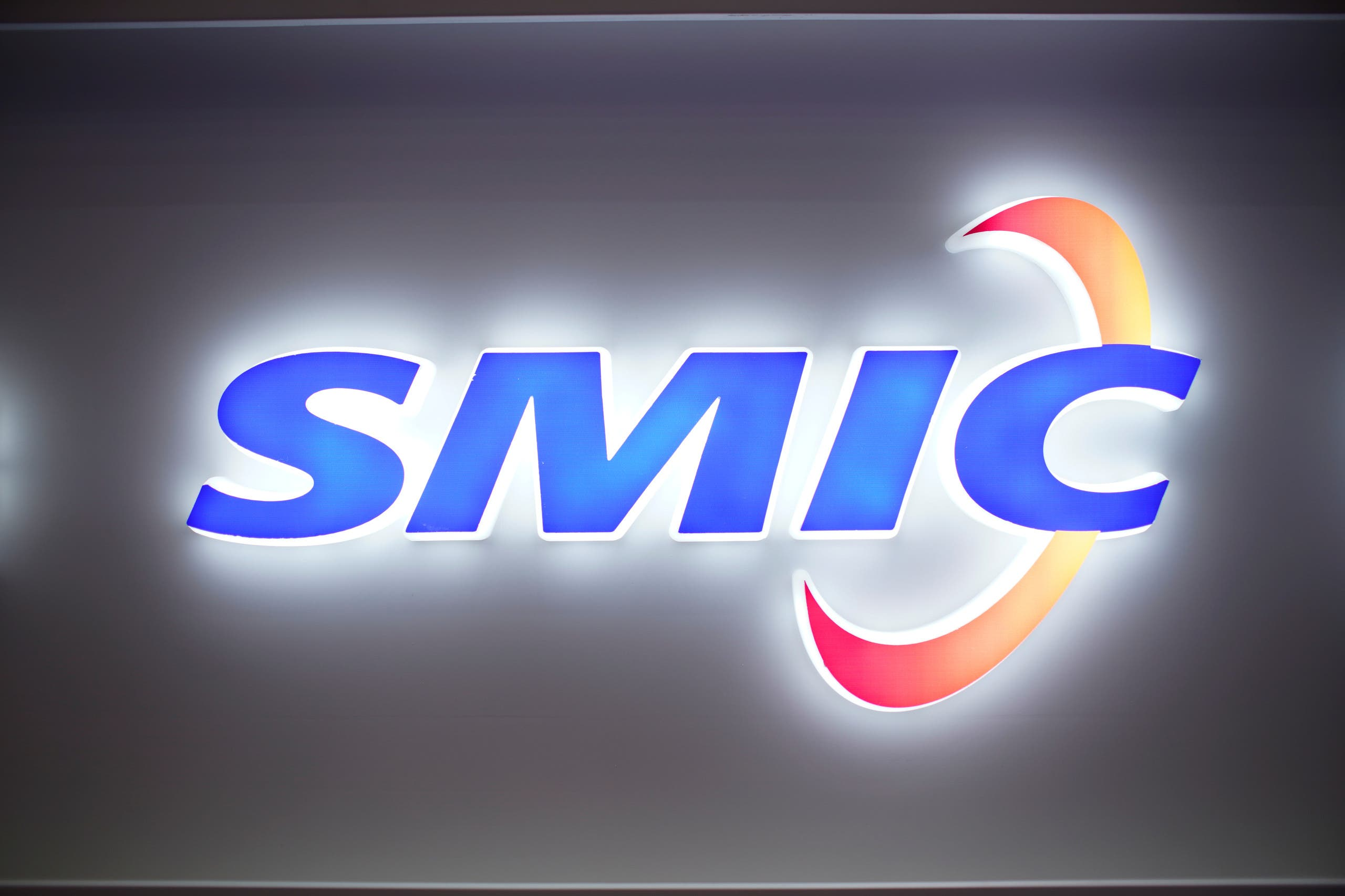 A logo of Semiconductor Manufacturing International Corporation (SMIC) taken on October 14, 2020. SMIC was one of the dozens of Chinese companies added to a trade blacklist by the US earlier this month. (Reuters)