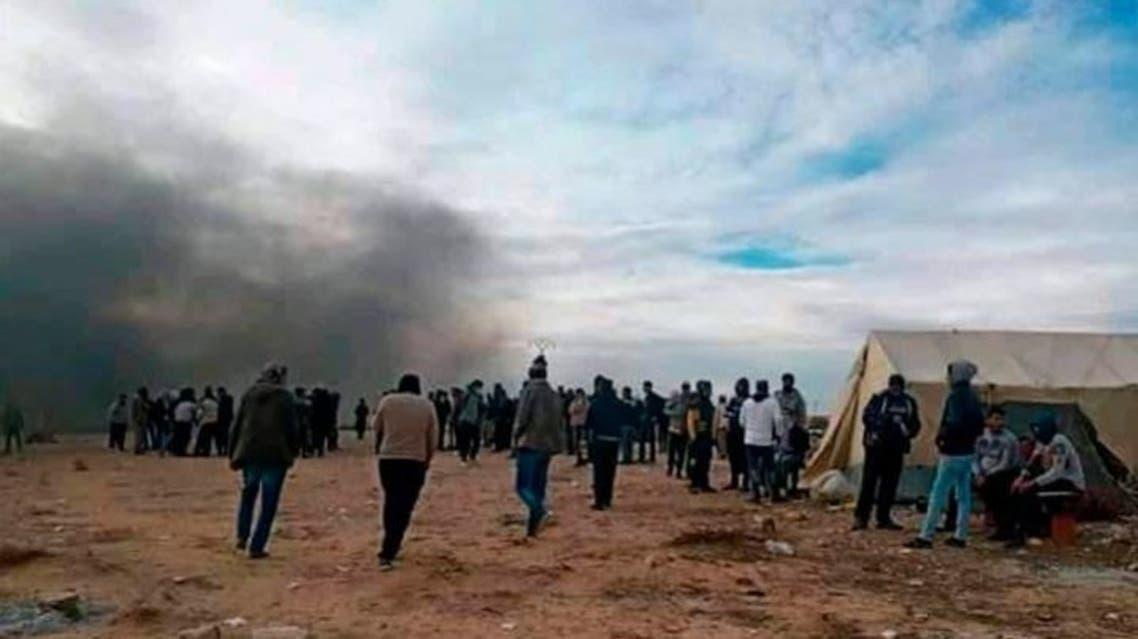 أنبوب غاز احتجاجات تونس