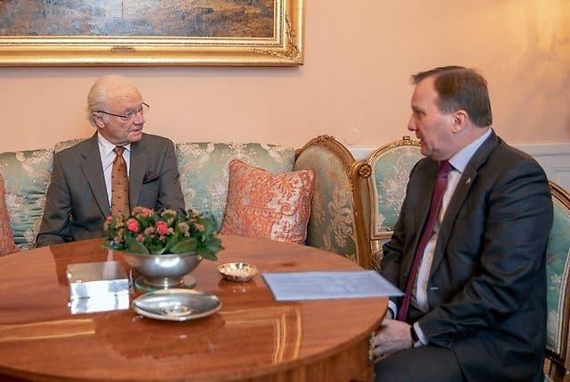 ملك السويد مع رئيس الوزراء لوفين