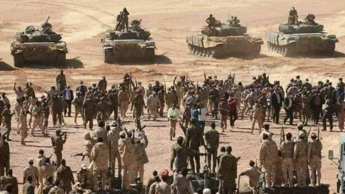 من تعزيزات الجيش السوداني السودان على الحدود مع إثيوبيا