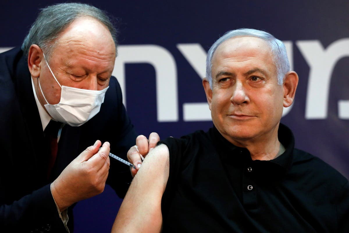 Israeli Prime Minister Minister Benjamin Netanyahu receives COVID-19 vaccine. (Reuters)