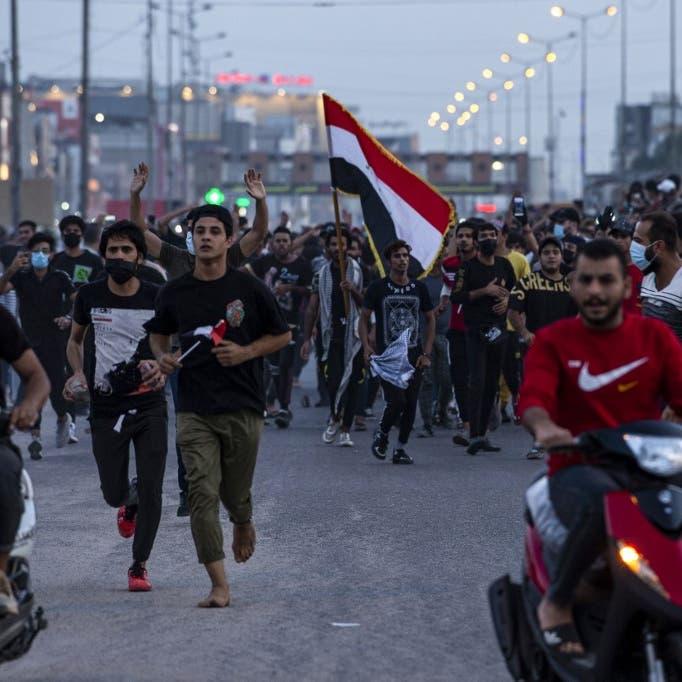 احتجاجات العراق..متظاهرون يقطعون شرياناً حيوياً بالبصرة