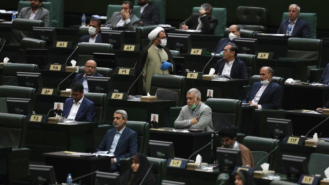 Lawmakers listen to a speech during the inauguration ceremony of Iran's new parliament, in Tehran, Iran. (File photo: AP)