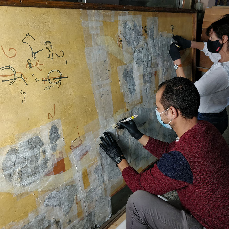 عمرها 6000 عام.. مصر ترمم جدار أقدم مقبرة