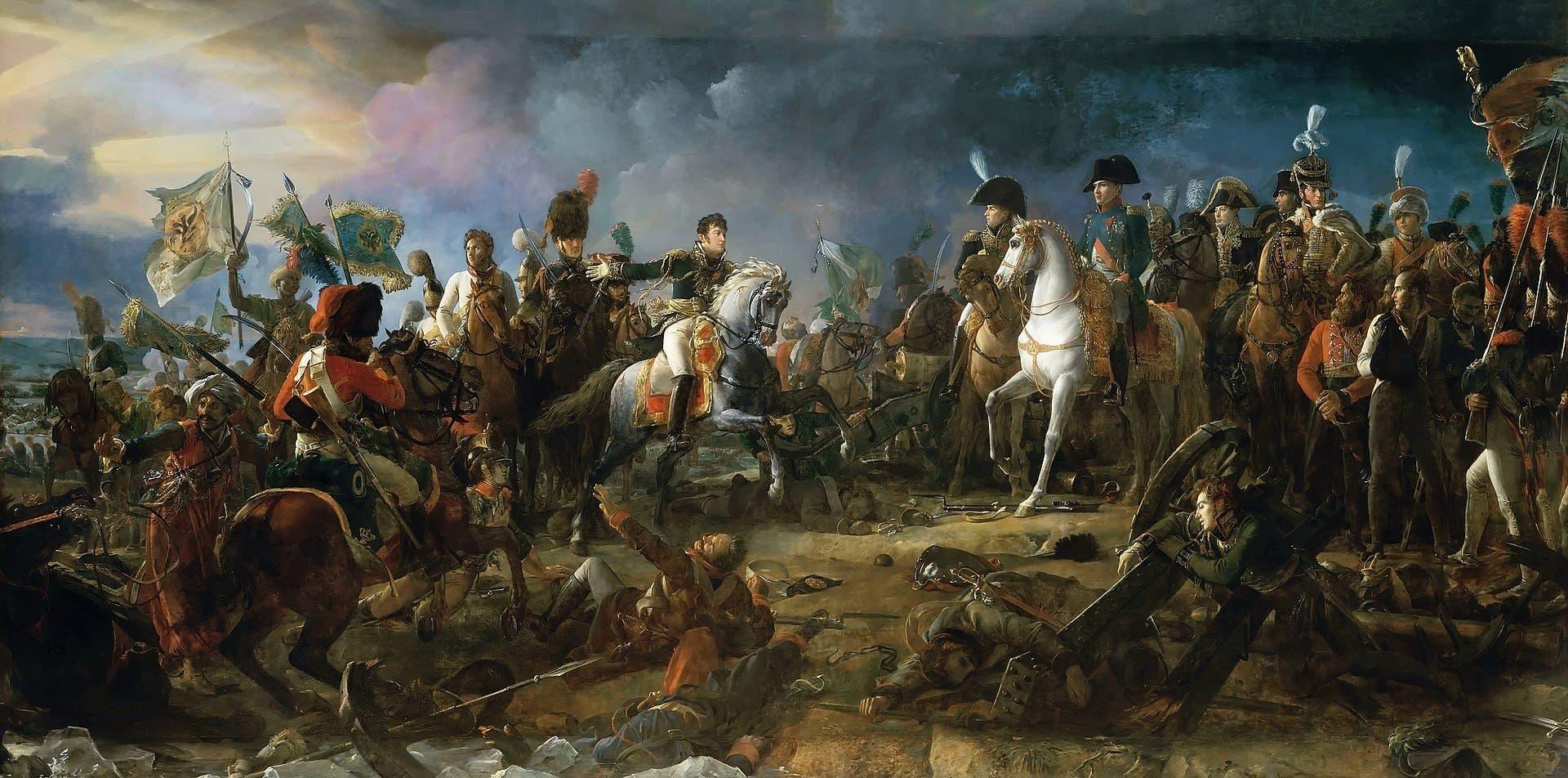 لوحة تجسد معركة أوسترليتز