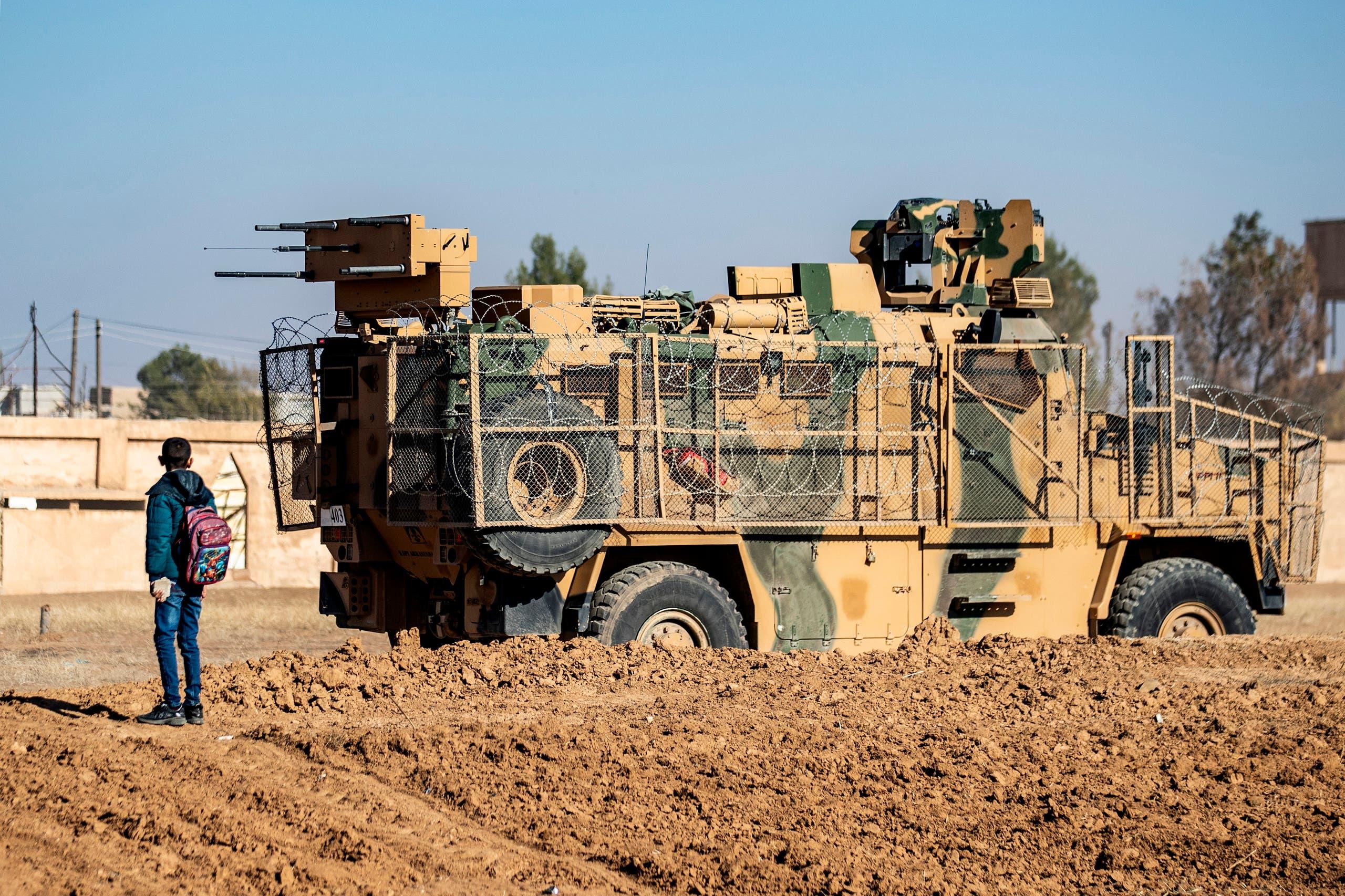 دورية تركية في سوريا (فرانس برس)