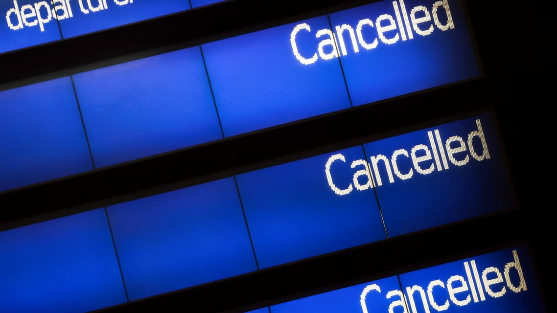 An information board is pictured at the Eurostar terminal at St Pancras International, as EU countries impose a travel ban from the UK following the coronavirus disease (COVID-19) outbreak, in London, Britain, December 21, 2020. (Reuters)
