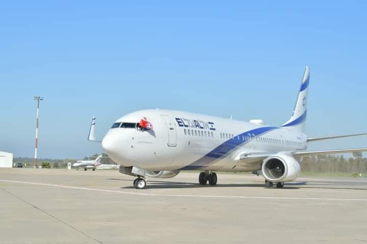 وصول طائرة إسرائيلية إلى مطار مدينة سلا بالقرب من العاصمة المغربية الرباط