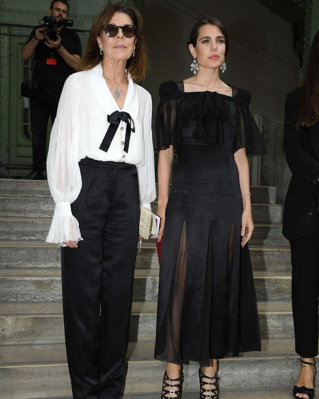 شارلوت ووالدتها الأميرة كارولين في حفل تأبين الراحل لاغرفيلد في العام 2019