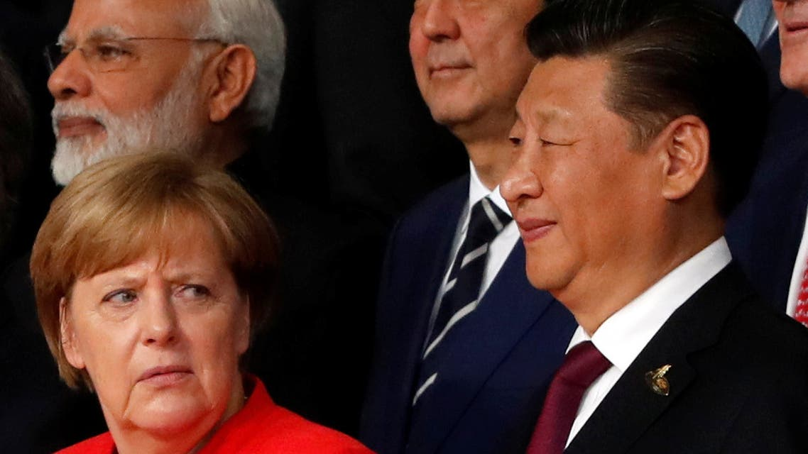 German Chancellor Angela Merkel and Chinese President Xi Jinping at the G20 leaders summit in Hamburg, Germany July 7, 2017. (Reuters)