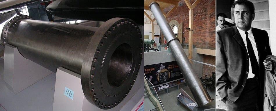 مخترع مدفع بابل لصدام، واهم قطعه فوهته وقسم من ماسورته، موجودتان في متحف بريطاني