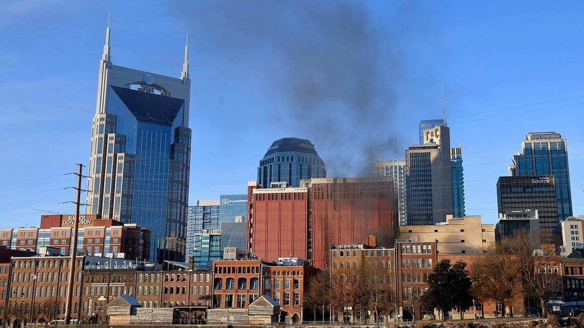 Smoke billows from the site of an explosion in the area of Second and Commerce in Nashville. (File photo: Reuters)