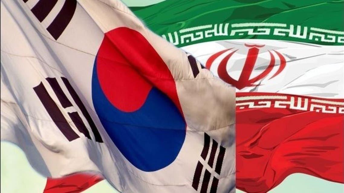 پرچم های ایران و کره جنوبی
