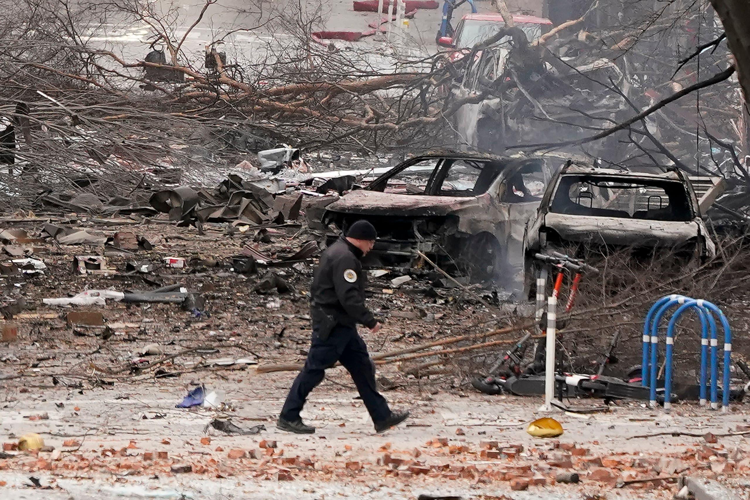 من وسط ناشفيل حيث وقع الانفجار(أرشيفية- أسوشييتد برس)