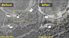 شام میں حملہ: سیٹلائٹ تصاویر میں تباہ شدہ اہداف کا انکشاف