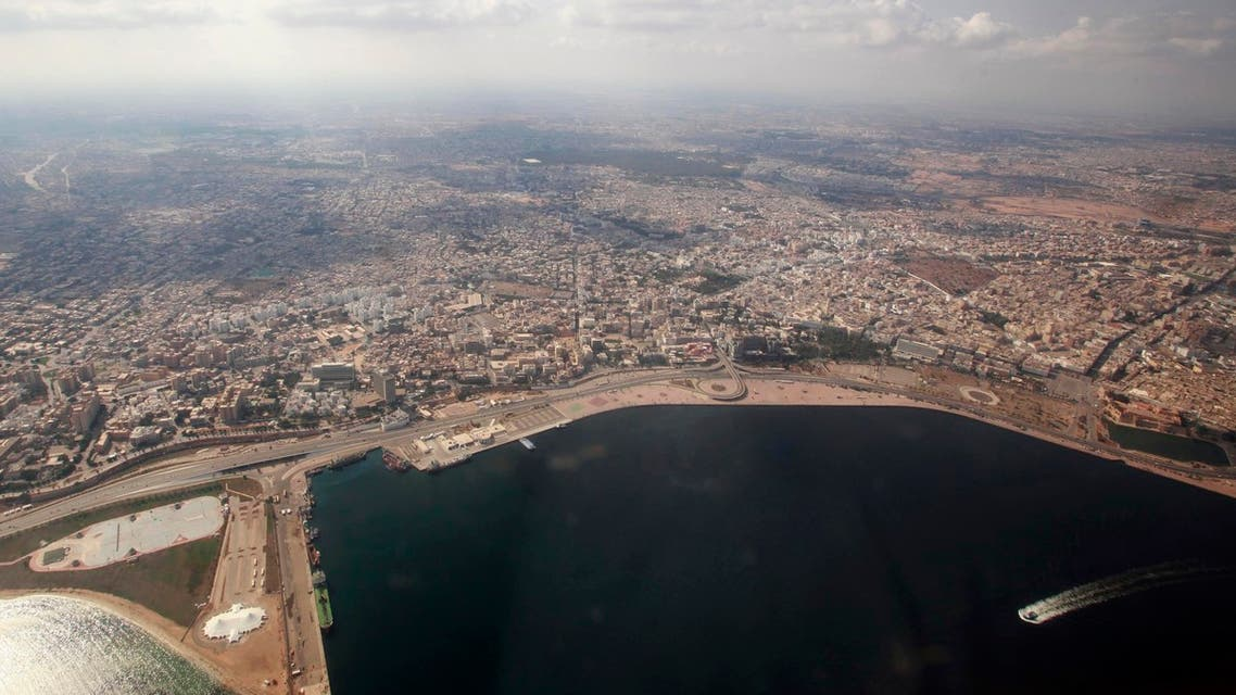 General view of Tripoli city seen through an airplane window on September 30, 2011. (Reuters)