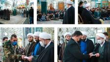 خامنہ ای کے مندوب کی شام میں ایرانی ملیشیائوں کی تکریم