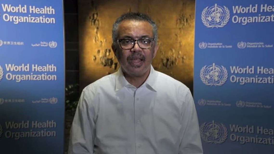 رئيس منظمة الصحة العالمية تيدروس أدهونام غبرييسوس