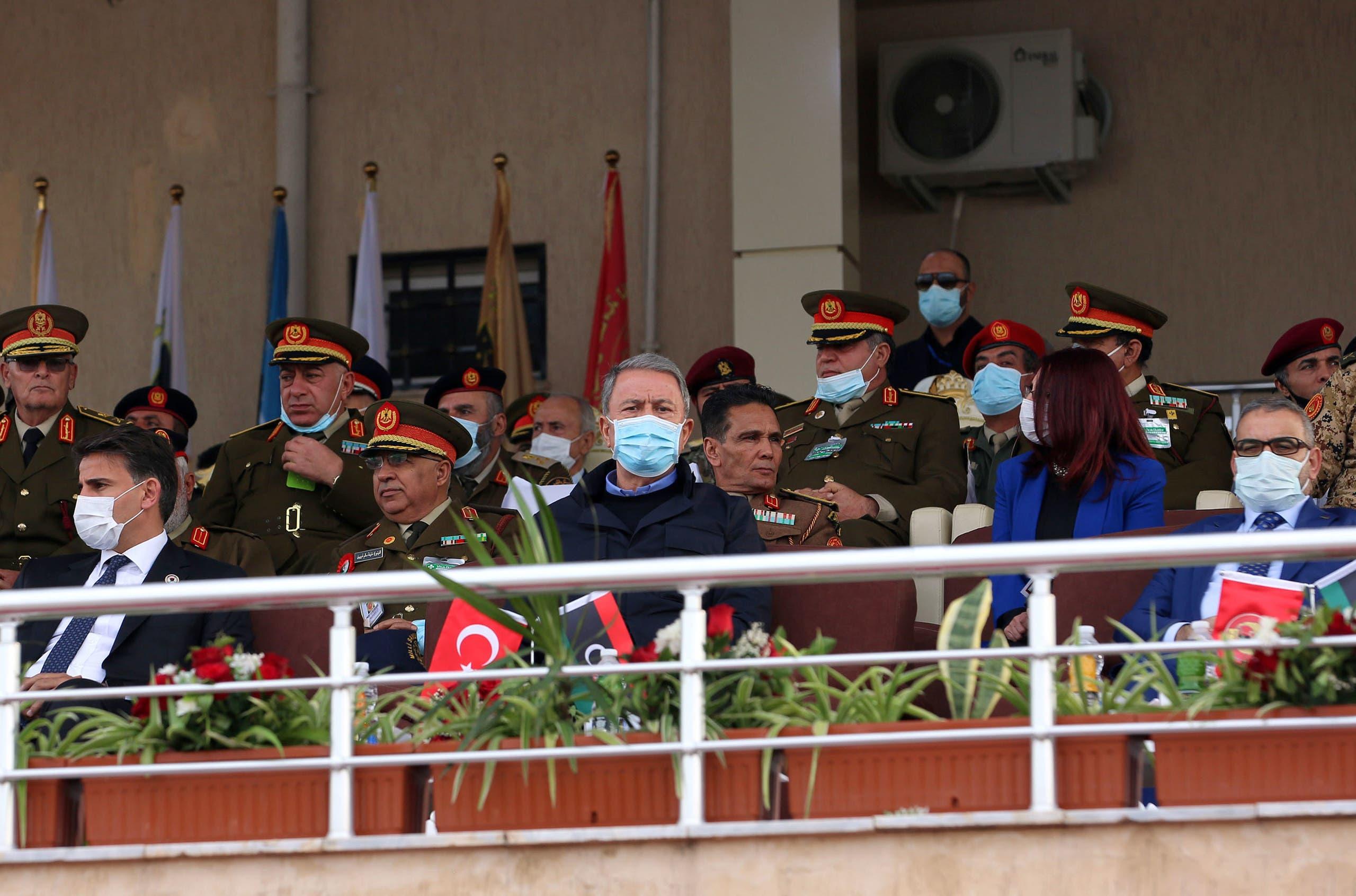 وزير الدفاع التركي خلوصي أكار من ليبيا