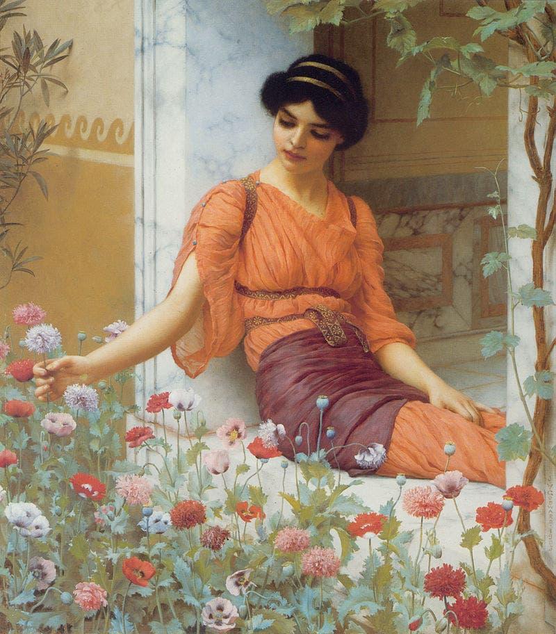 لوحة أزهار الصيف