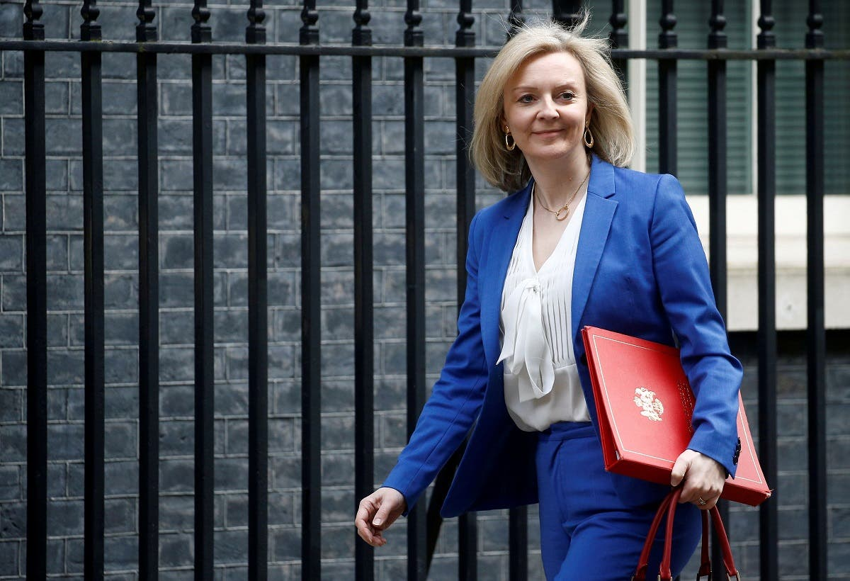 Britain's Secretary of State of International Trade and Minister for Women and Equalities Liz Truss is seen outside Downing Street London, Britain. (File photo: Reuters)