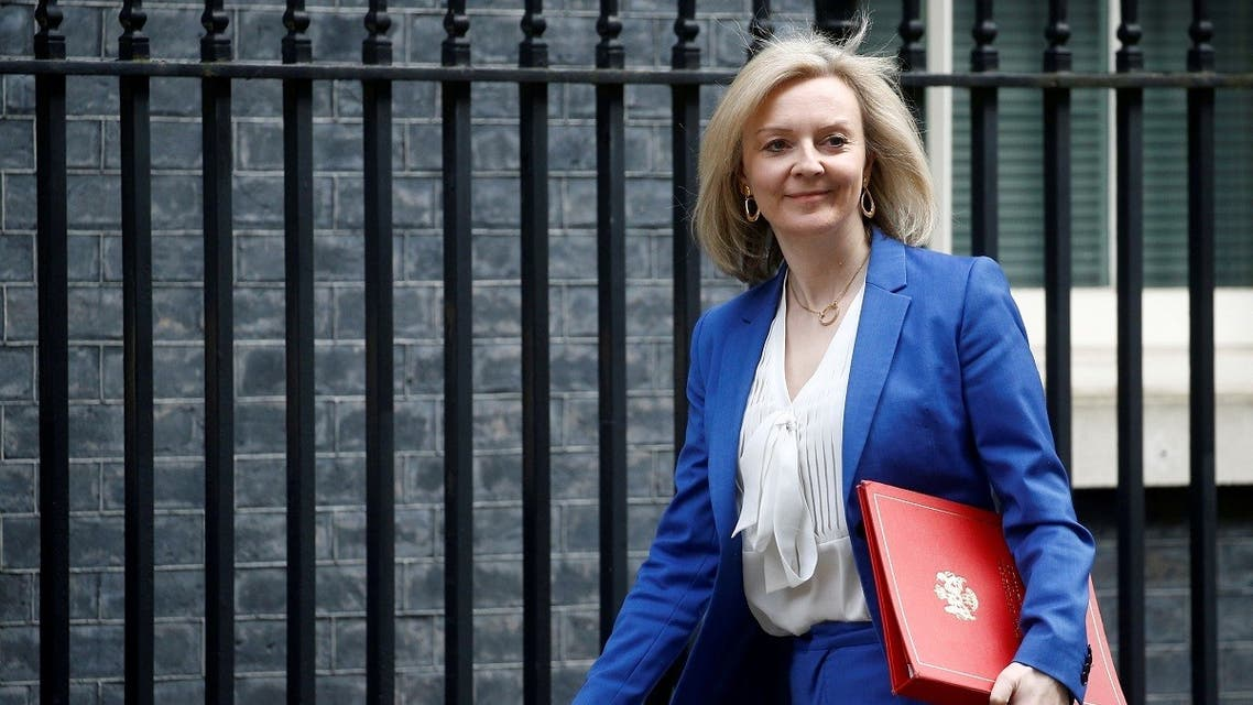 Britain's Secretary of State of International Trade and Minister for Women and Equalities Liz Truss is seen outside Downing Street London, Britain March 17, 2020. (Reuters/Henry Nicholls)