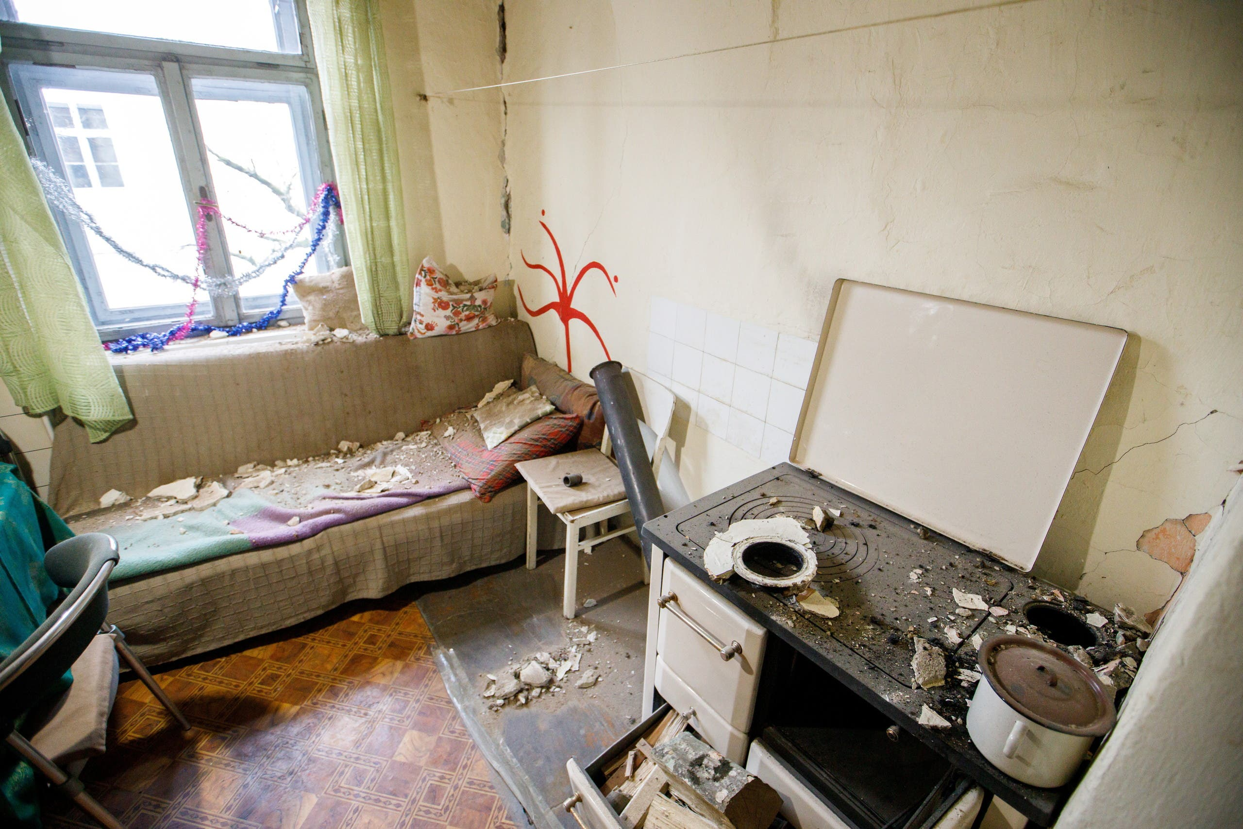 The damaged home of Ankica Loncarevic is seen after a 5.2 magnitude earthquake in Petrinja, Croatia, December 28, 2020. (Reuters)