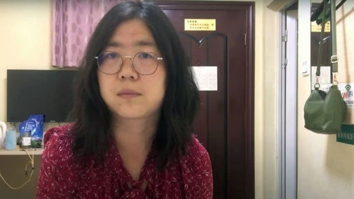 Zhang Zhan, a Chinese citizen journalist who was jailed for four years for her livestream reporting from Wuhan. (Twitter)