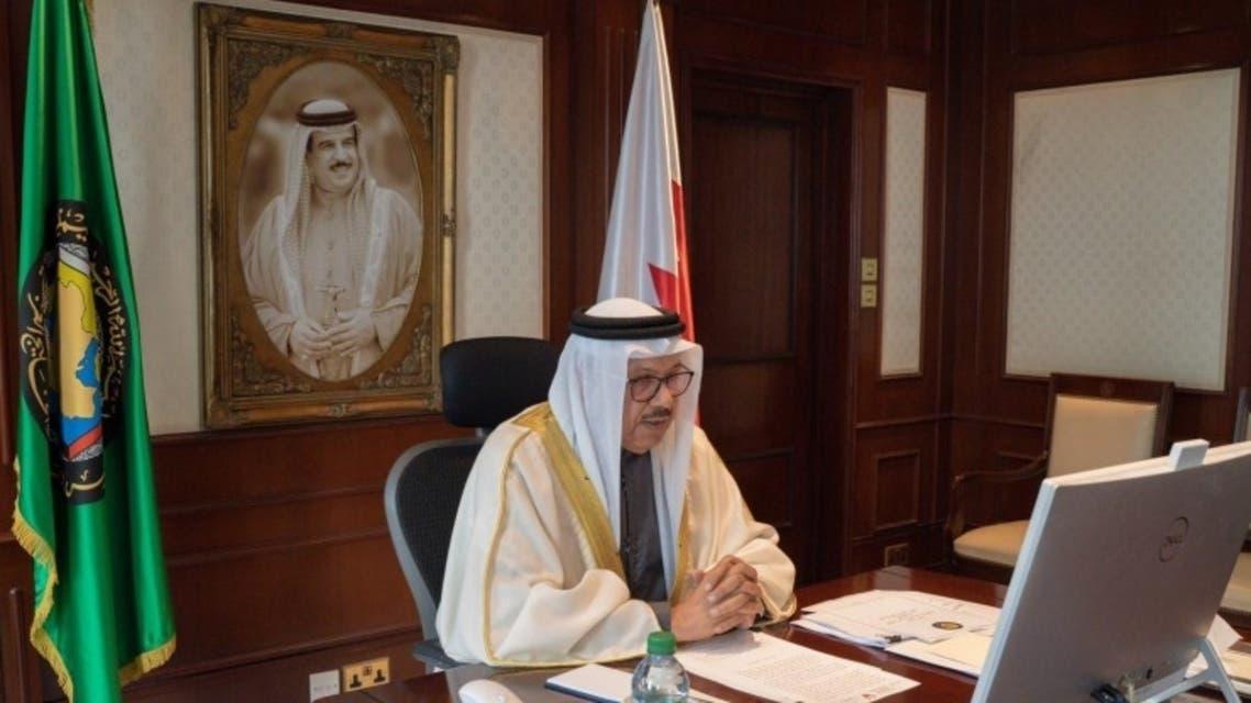 Bahrain Foreign Minister Abdullatif bin Rashid Al-Zayani chairs a preparatory session of the GCC Ministerial Council. (BNA)