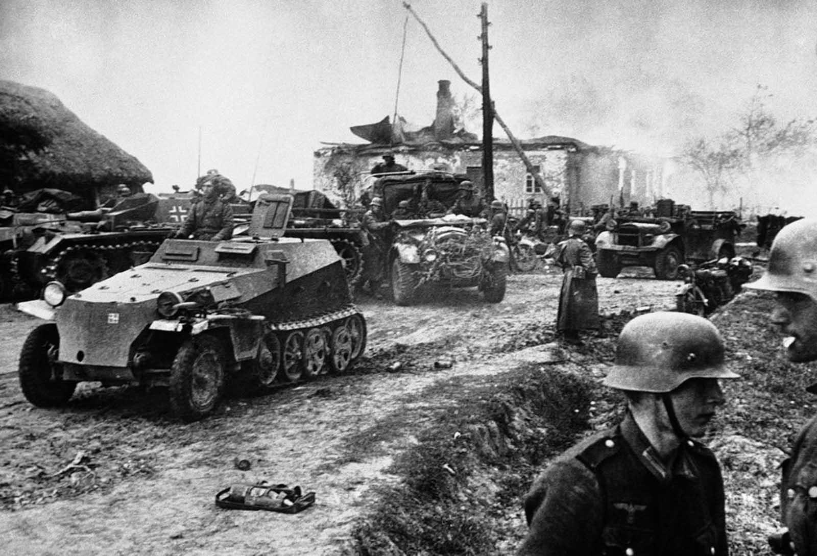 صورة للقوات الألمانية على الجبهة الشرقية