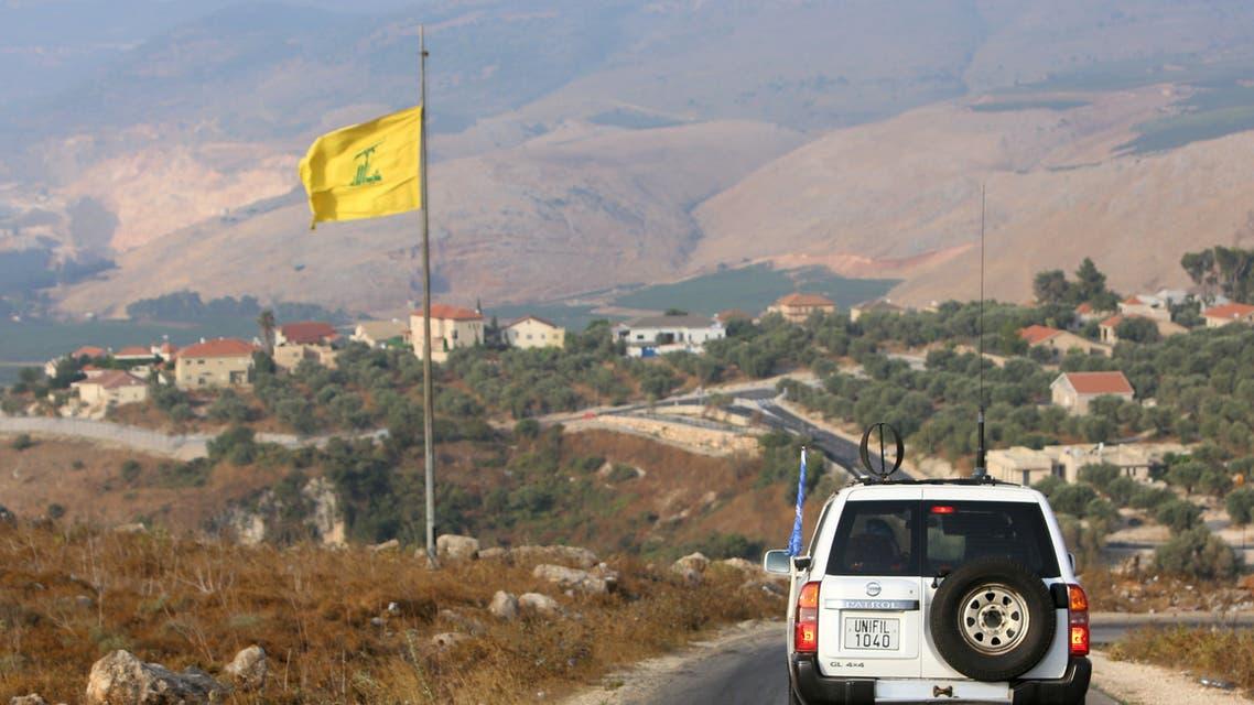 علم حزب الله جنوب لبنان (أرشيفية- رويترز)