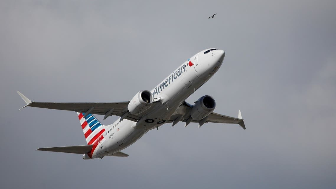 American Airlines flight 718 takes off from Miami, Florida, US, on December 29, 2020. (Reuters)