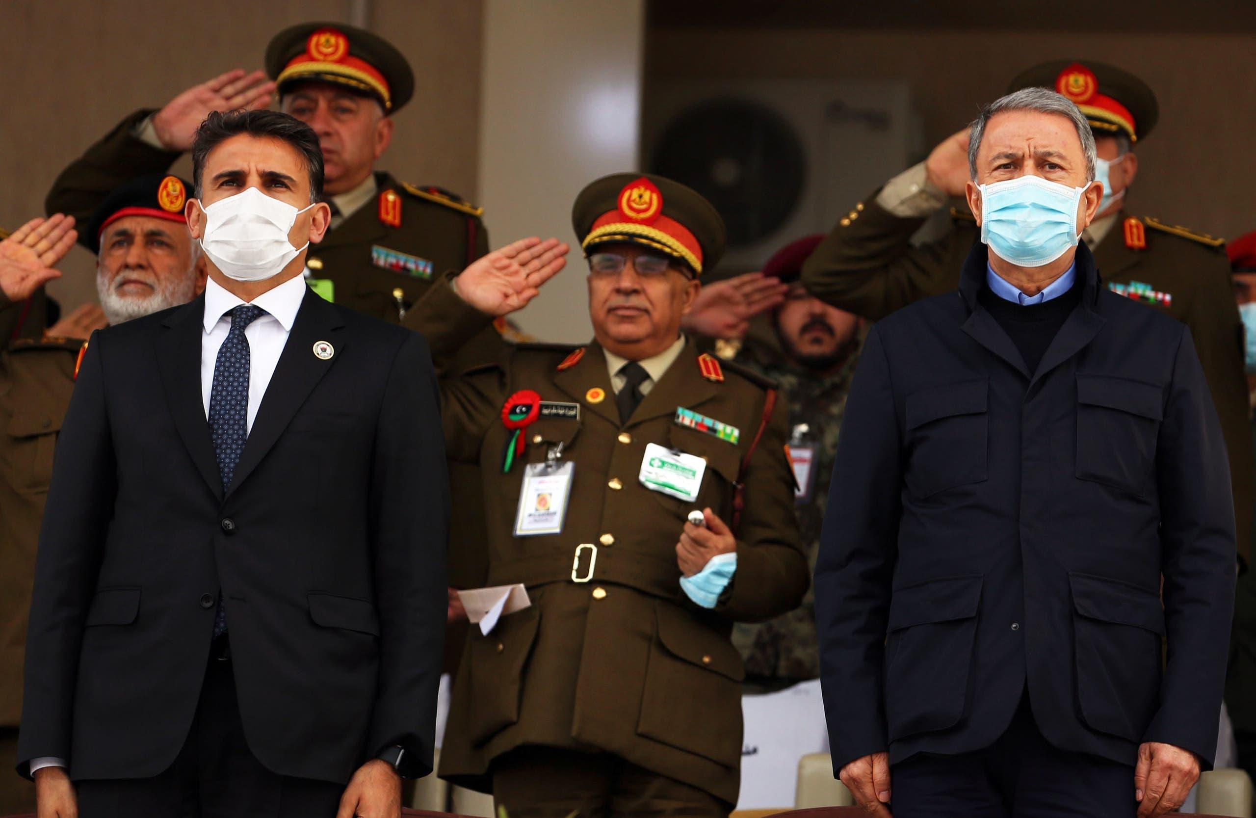 وزير الدفاع التركي خلوصي أكار في طرابلس (أرشيفية- فرانس برس)