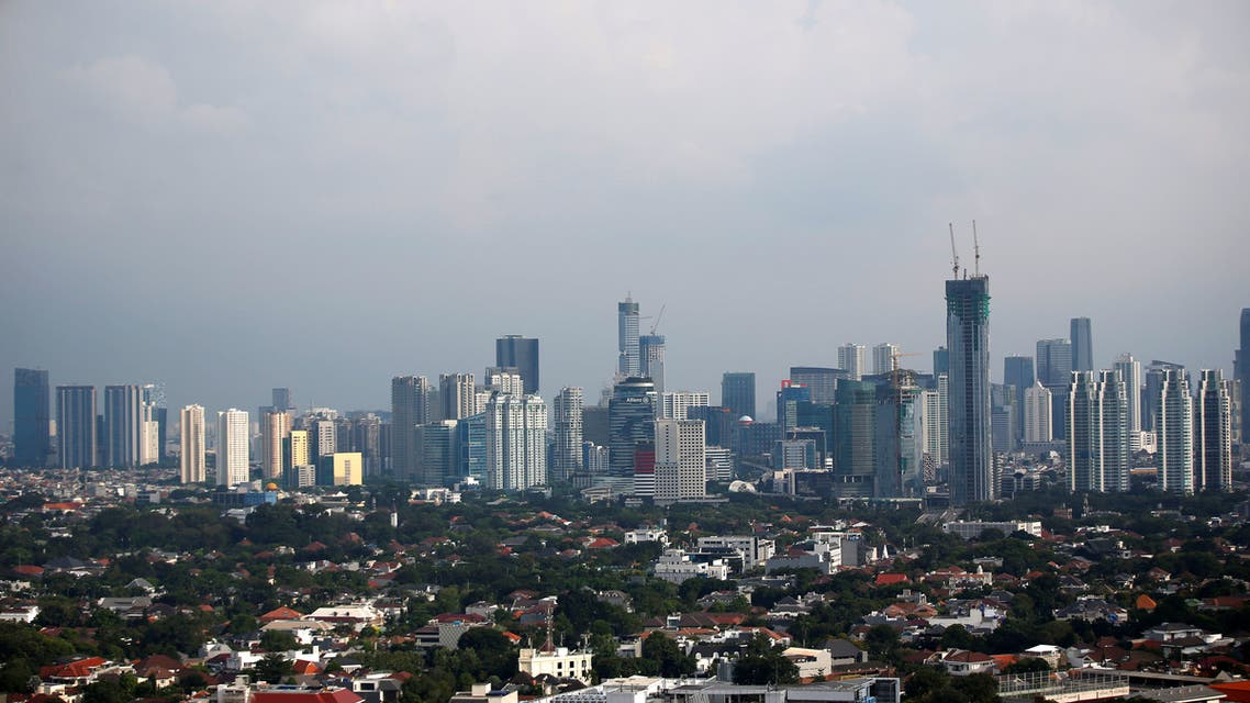 A general view of high-rise buildings in Jakarta, Indonesia, April 16, 2020. (Reuters)