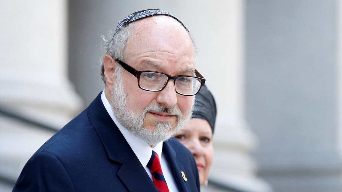 Jonathan Pollard, a former US Navy intelligence officer convicted of spying for Israel, exits following a hearing at the Manhattan Federal Courthouse in New York, US, May 17, 2017. (File photo: Reuters)