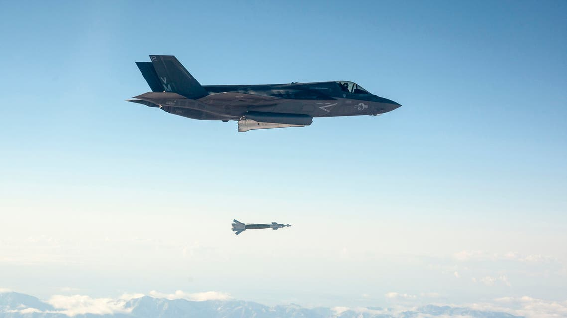 A U.S. Marine Corps F-35B short take-off and vertical landing (STOVL) fighter jet drops a laser-guided bomb during its first guided weapons release test at Edwards Air Force Base, California October 29, 2013. (Reuters)