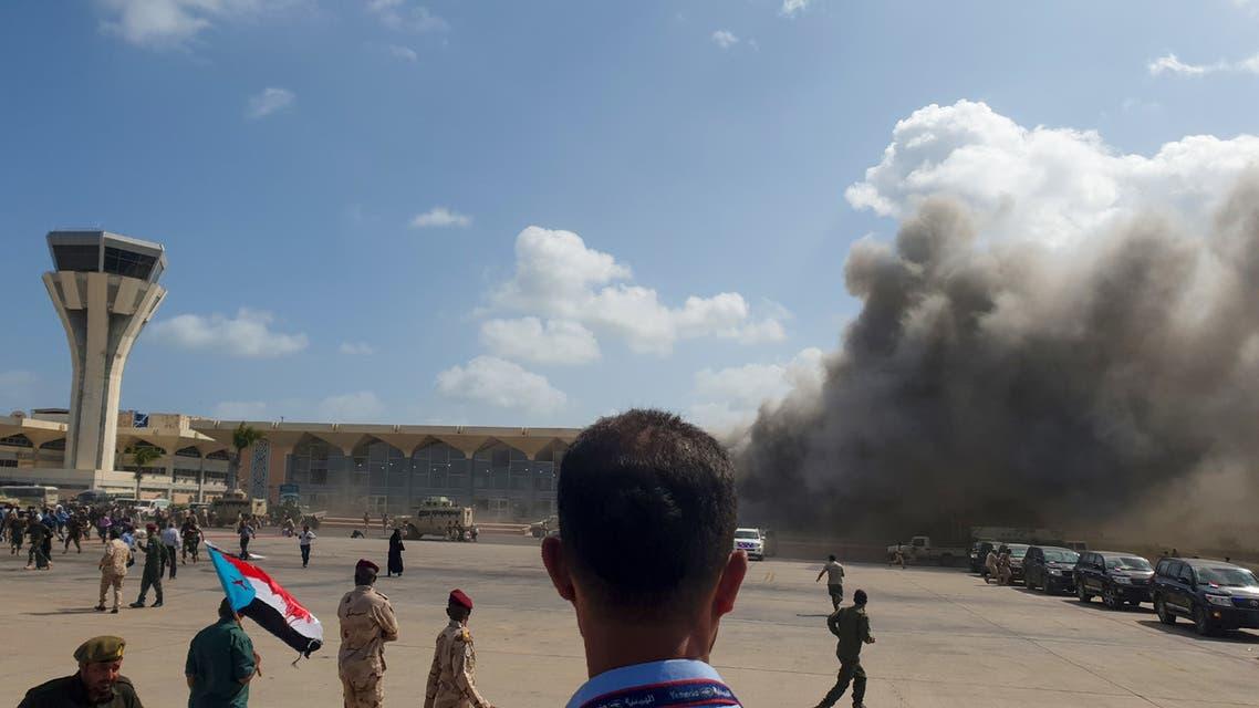 من استهداف مطار عدن (30 ديسمبر 2020- فرانس برس)