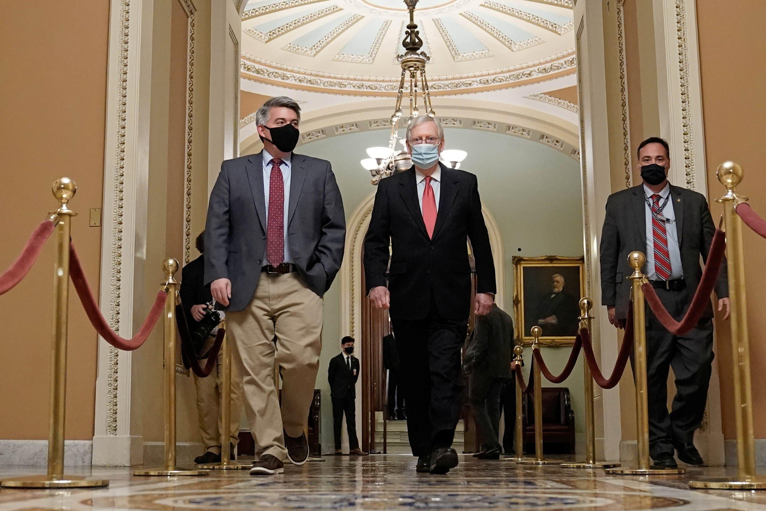 ميتش ماكونيل في مجلس الشيوخ (رويترز)